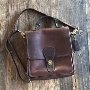 Vintage Coach Station Crossbody Cognac Brown